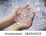 background with ice cubes | Shutterstock . vector #384544525