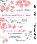 invitation wedding card with... | Shutterstock .eps vector #384566185