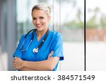 beautiful middle aged medical...   Shutterstock . vector #384571549
