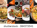 cuisine of different countries. ... | Shutterstock . vector #384573541