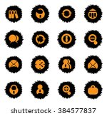 office icons set for web sites... | Shutterstock .eps vector #384577837