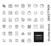finance outline icons for web... | Shutterstock . vector #384577909
