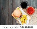 food  fast food  burgers with... | Shutterstock . vector #384578404