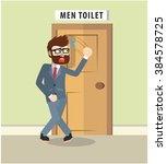 hurry pee | Shutterstock .eps vector #384578725