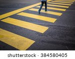 Man On Zebra Crossing.