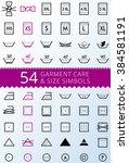 laundry care symbols. set of... | Shutterstock .eps vector #384581191