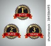 vector set of award label...   Shutterstock .eps vector #384586495