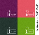 set of vector seamless pattern... | Shutterstock .eps vector #384599695