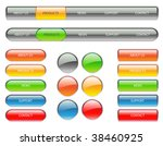 colorful website navigation... | Shutterstock .eps vector #38460925