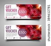 elegant gift voucher. with the...   Shutterstock .eps vector #384612781