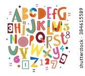 bright abc for kids. | Shutterstock .eps vector #384615589