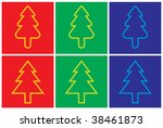 christmas tree   blend only | Shutterstock .eps vector #38461873