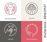 vector charity and volunteer...   Shutterstock .eps vector #384619537