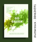 go green  save nature flyer ... | Shutterstock .eps vector #384634591