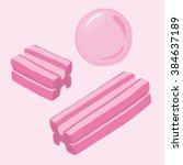vector bubblegum illustration   Shutterstock .eps vector #384637189