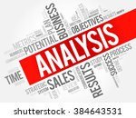 analysis word cloud  business... | Shutterstock .eps vector #384643531