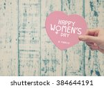 8 march happy womens day   Shutterstock . vector #384644191