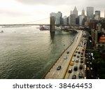 downtown manhattan and brooklyn ... | Shutterstock . vector #38464453