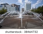 Waterfront Park is a park located on the west bank of the Willamette River in downtown Portland, Oregon. - stock photo