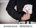 close up of poker player... | Shutterstock . vector #384650611