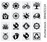 vector eco icon set | Shutterstock .eps vector #384652114