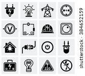 vector electricity icon set | Shutterstock .eps vector #384652159