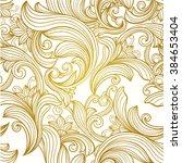 vintage gold  decorative  ... | Shutterstock .eps vector #384653404
