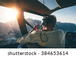 rear view of female tourist on...   Shutterstock . vector #384653614