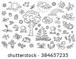 Cartoon Nature Set With Trees ...