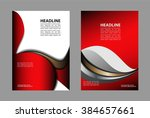 abstract red background with... | Shutterstock .eps vector #384657661