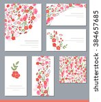 floral spring templates with... | Shutterstock .eps vector #384657685