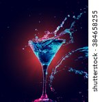 colourful cocktail in glass... | Shutterstock . vector #384658255