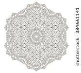 mandala. vintage decorative...   Shutterstock .eps vector #384661141