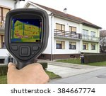 house basement thermal imaging... | Shutterstock . vector #384667774