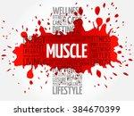 muscle word cloud  health cross ...