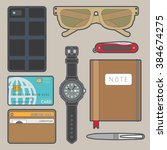 illustration of objects every... | Shutterstock .eps vector #384674275