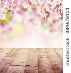 cherry blossoms with empty... | Shutterstock . vector #384678121