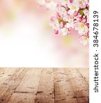 cherry blossoms with empty... | Shutterstock . vector #384678139