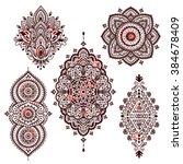 set of beautiful indian ethnic... | Shutterstock .eps vector #384678409