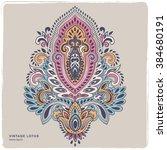 beautiful indian paisley...   Shutterstock .eps vector #384680191