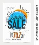 summer sale banner  sale poster ... | Shutterstock .eps vector #384683095