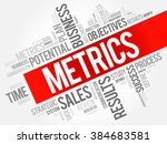 metrics word cloud  business... | Shutterstock .eps vector #384683581