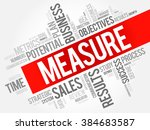 measure word cloud  business... | Shutterstock .eps vector #384683587