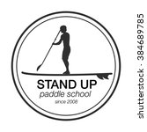 logo template for stand up... | Shutterstock .eps vector #384689785