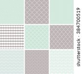 set with simple seamless... | Shutterstock .eps vector #384700519