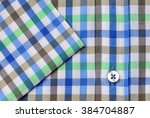 Green Blue Brown White Plaid...