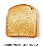 sliced toast bread isolated on...   Shutterstock . vector #384707665