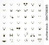 set of emoticons  emoji... | Shutterstock .eps vector #384708085