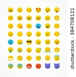 set of emoticons  emoji... | Shutterstock .eps vector #384708121