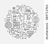 airport round illustration  ... | Shutterstock .eps vector #384711961